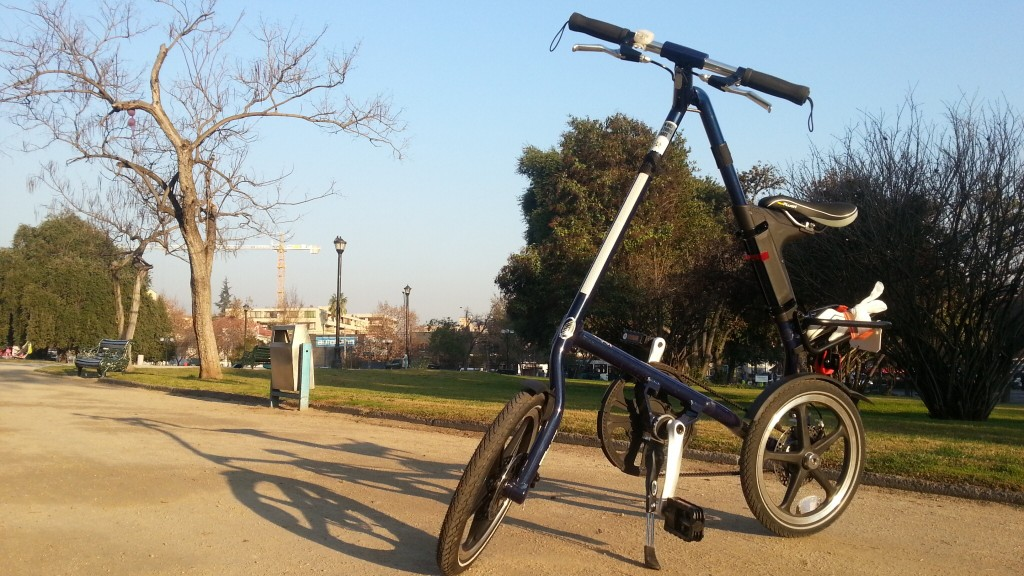 VENDIDA mi Bicicleta Plegable Strida LT, Azul